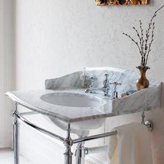 Burlington Sophia Georgian Marble Basin & Chrome Wash Stand