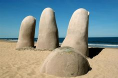 See La Mano (The Hand), Brava Beach, Punta del Este, Uruguay - Bucket List Dream from TripBucket