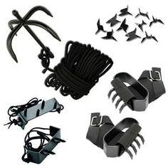 Ninja Climbing Gear Gift Set For Sale   All Ninja Gear: Largest Selection of Ninja Weapons   Throwing Stars   Nunchucks