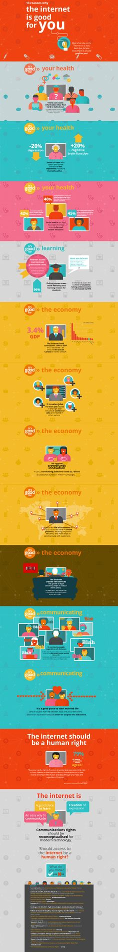 Why the Internet and Social Media Is Good For You - #infographic #internet #socialmedia #technology
