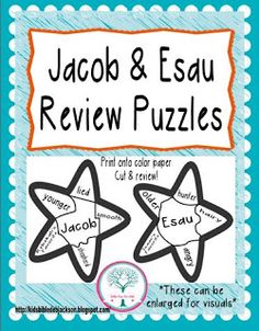 Jacob and Esau Matching Activity | Sunday School Ideas ...