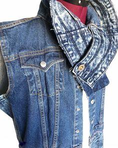 Cold Weather, Upcycle, Street Wear, Vest, Thing 1, Turtle Neck, Denim, Stylish, Catcher