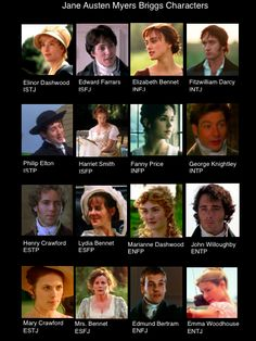 Which Jane Austen Character is Your Myers Briggs? Confessions of a Myers Briggs-aholic All things Myers Briggs. Written by an INFJ.