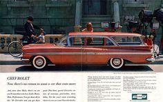 This is actually a ' 57 Chevy 210 2-dr station wagon, not a ' 57 Nomad. Description from pinterest.com. I searched for this on bing.com/images