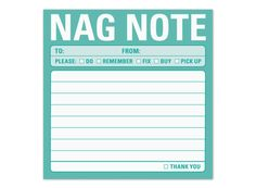 Nag Note Sticky
