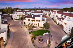 Aerial shot of a condo complex in Scottsdale, AZ. I love the mountains in the background.
