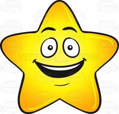 Gold Star Cartoon With Bright Look On Face Emoji #beguiled #big #blessed…