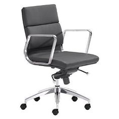 Zuo Modern 205895  Engineer Low Back Office Chair  in Black