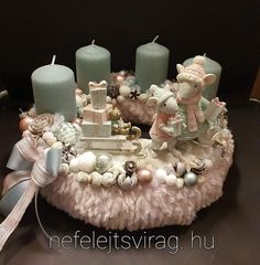 Rose Gold Christmas Decorations, Christmas Centerpieces, Yule, Pillar Candles, Crafting, Xmas, Wreaths, Winter, Candle Arrangements
