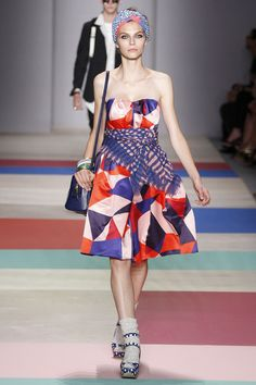 look 41  Spring 2013 Ready-to-Wear  Marc by Marc Jacobs. THis dress is fabulous too. and I think im liking the bandana belt trend he is doing this season.