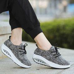 d2e5d44a3e8 Women's #black lace up #rocker sole shoe sneakers mix stripe design,  lightweight,