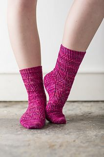 WillowHerb by Coopknits knitted in Vivacious 4ply by Fyberspates #socks #knittedsocks #knitting