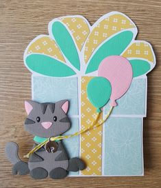 Cat Birthday, Marianne Design, I Card, Paper Flowers, Stencils, Kittens, Presents, Templates, Ps