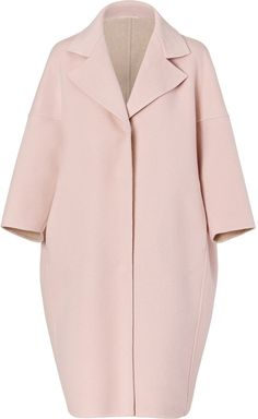 $2350.0 Jil Sander Blush Oversized Wool Coat