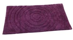 Textile Décor Castle Hill Bath Mat with Spray Latex Backing, Echo Design, 24 by 40-Inch, Aubergine