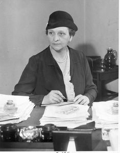 FEB. 28, 1933:  Frances Perkins appointed by Pres. Franklin Roosevelt as Secretary of Labor.  Perkins was the first woman to serve in the cabinet of a U.S. president.