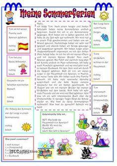 Leseverstehen mit kleinen Aufgaben - DaF Arbeitsblätter