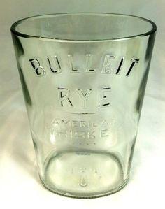 Bulliet Whiskey Bottle cut into Vase by PMGlassArt on Etsy, $18.00