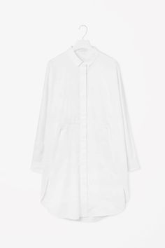 COS image 2 of Kimono sleeve shirt dress in White