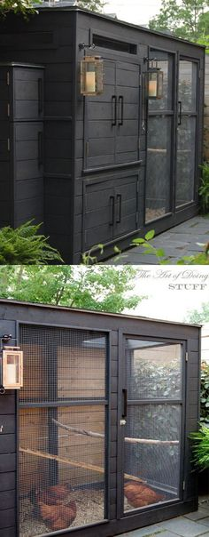 Pottery-Barn Inspired Chicken Coop | 21 Chicken Coop Designs and Ideas Your Homestead Needs