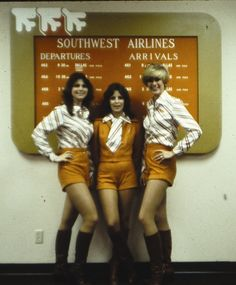 Ticket agents for Southwest Airlines at the Beaumont/Port Arthur Station, 1979.