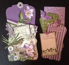 annes papercreations: Graphic 45 Time to flourish and celebrate box and card tags
