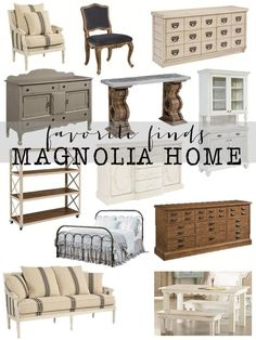 Magnolia Home by Joanna Gaines  and Farmhouse Finds. So many amazing furniture and home decor items.