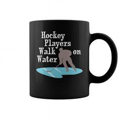 Hockey players walk on water mug