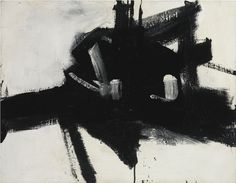 FRANZ KLINE 1910 - 1962 INTERSECTION oil on canvas 30 x 38 in. 76.2 x 96.5 cm. Executed in 1955