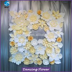 2017 New Design Paper Flowers For Portable Backdrop Stands, View flower wall wedding backdrop, Dancing Flower Product Details from Wuhan Jiang Tuo Trading Co., Ltd. on Alibaba.com