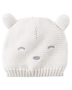 Baby Boy Knit Bear Hat from Carters.com. Shop clothing & accessories from a trusted name in kids, toddlers, and baby clothes.