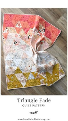 Magnificent sew a quilt - read up on our report for a whole lot more creative concepts! Cute Quilts, Small Quilts, Baby Quilts, Quilting Projects, Quilting Designs, Sewing Projects, Hand Quilting, Couture, Quilt Making