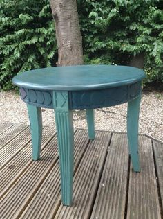 Vintage Coffee table painted with crackle finishing top
