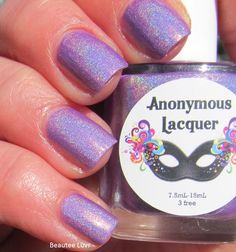 Anonymous Lacquer - Grape Laffy Taffy - Hella Holo Exclusive April 2015 - HHC Exc