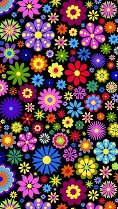 #cute #retro #flower #background #wallpaper