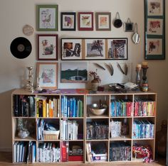 book case in the entryway