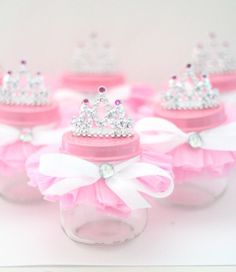 Tutu Party Favor Glass Jar/Princess Party by ThePartyGirlStudio
