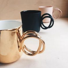 "8,431 Likes, 61 Comments - Design Milk Everyday (@designmilkeveryday) on Instagram: ""These twist #mugs by @endeceramics are perfect for your morning/afternoon/3pm slump #cup of #coffee."""