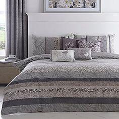Hanworth Charcoal Duvet Cover & Standard Pillowcase Set #kaleidoscope #bedding