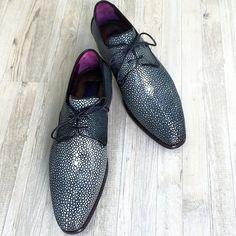 Paul Parkman Exotic Stingray Upper Derby Shoes For Men #paulparkman #luxury…
