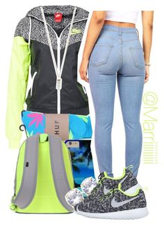 2/26/15 by trill-forlife on Polyvore featuring polyvore, beauty, Amber Sceats, NIKE and HUF