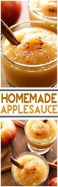 Homemade Applesauce... This recipe is surprisingly SO easy and so much better than store bought! I will never have it any other way!