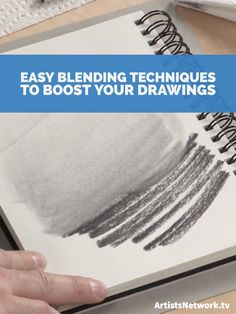 Check out these quick blending techniques to help boost your overall drawings by adding airy tones and values! #drawing #blendingtips