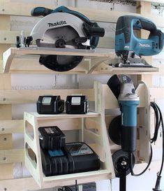 Tool Storage Cabinets, Garage Tool Storage, Workshop Storage, Workshop Organization, Garage Tools, Power Tool Storage, Lumber Storage, Garage Organization, Organization Ideas