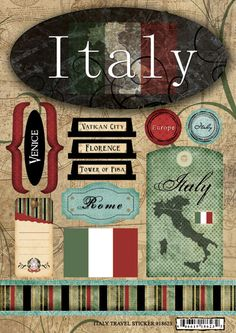 stickers for scrapbooking | Italy Scrapbooking Paper Stickers Embellishments for Rome Pisa Venice