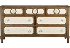 Cindy Crawford Home Harlowe Brown Dresser.599.99. 68W x 18.5D x 37H. Find affordable Dressers for your home that will complement the rest of your furniture. #iSofa #roomstogo