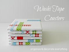 Washi Tape Coasters via Organize  Decorate Everything