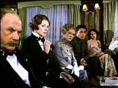 "Maggie Smith with Jack Warden, Bette Davis, Jon Finch and Olivia Hussey in ""Death on The Nile"", 1978."