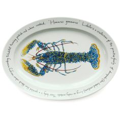 Jersey Pottery Lobster Large Oval Plate