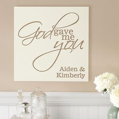 Need a wedding gift idea? Send the bride and groom personalized wedding gifts from Personal Creations. Unique keepsakes, picture frames, wall art & more. Valentine Day Gifts, Valentines, Memorial Day Sales, Personalized Valentine's Day Gifts, Rustic Background, Wood Plaques, Love Signs, Romantic Gifts, The Help